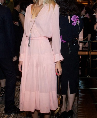 Poppy Delevingne wows in pretty pastel pink Louis Vuitton
