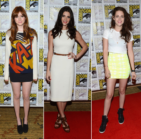 Rate or Slate: Karen Gillan, Ashley Greene and Kristen Stewart's Comic Con outfits