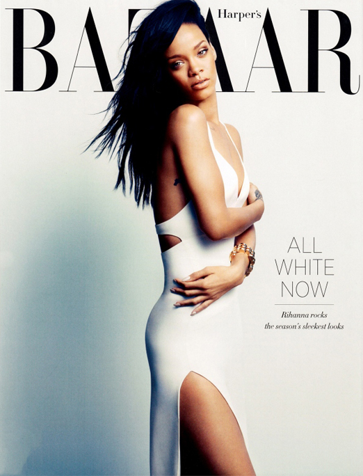 "Rihanna is white hot and ""uncensored"" for Harper's Bazaar August"