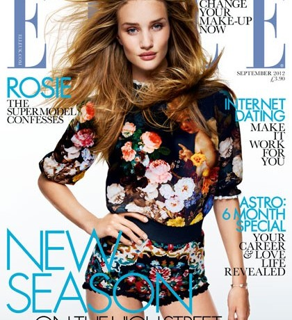Rosie Huntington Whiteley wears Dolce and Gabbana for Elle UK September