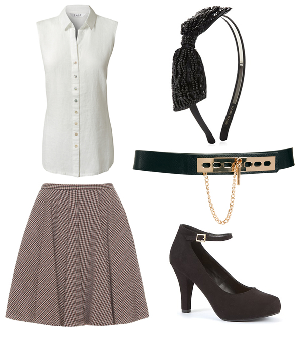 Three ways to wear the flared skirt