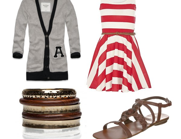 Three ways to wear… the college sweater