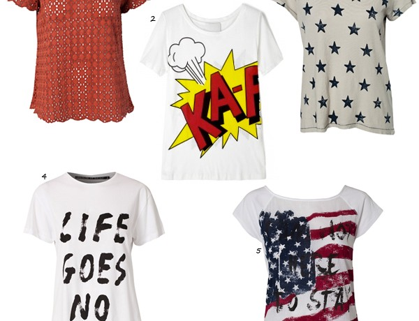 When only a t-shirt will do… 5 of our fave t-shirts!