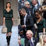 Victoria Beckham rocks her own designs at Wimbledon