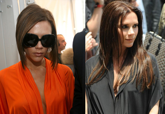 Before and after: Celebrities with and without their hair extensions…