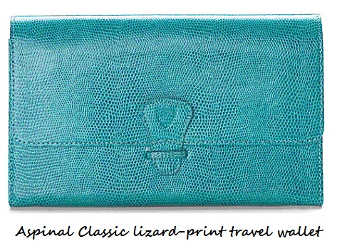 Accessory Alert – Aspinal Classic lizard-print travel wallet