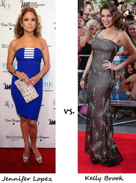 The Fash-off! Jennifer Lopez vs. Kelly Brook