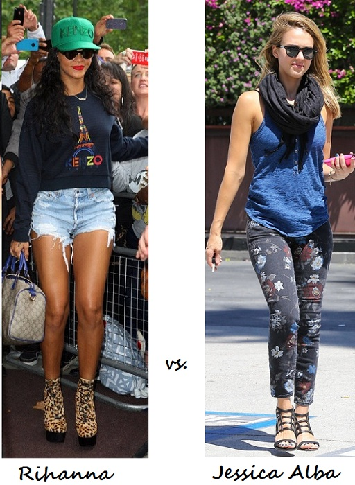 The Fash-off! Rihanna vs. Jessica Alba