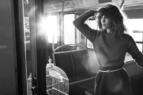 Alexa Chung fronts Maje's autumn/winter 2012 ad campaign!
