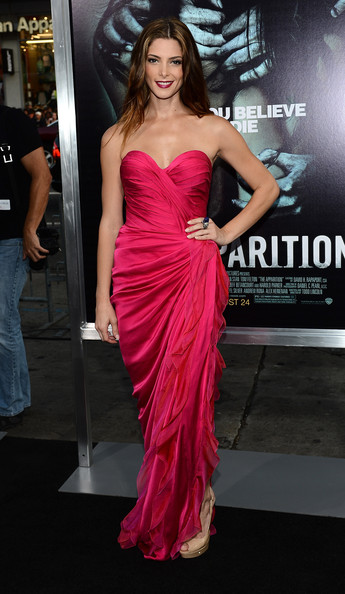 Ashley Greene looks dreamy in hot pink Donna Karan