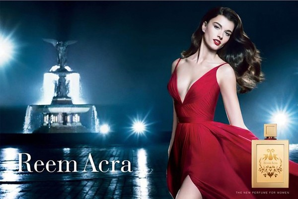 Crystal Renn stuns for Reem Acra's new fragrance ad