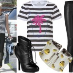 Get Gwen Stefani's edgy off duty look!