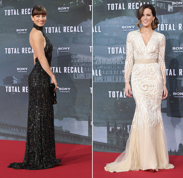 Jessica Biel and Kate Beckinsale are modern-day Princesses in Elie Saab and Naeem Khan