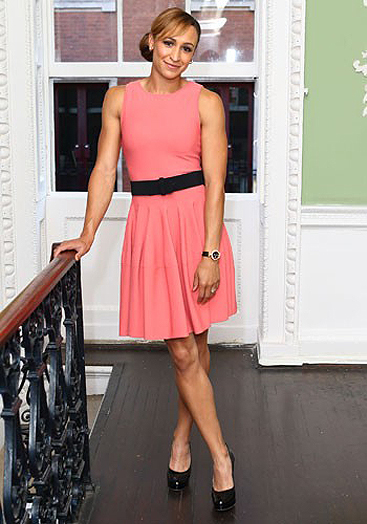 Jessica Ennis glams up in Alexander McQueen