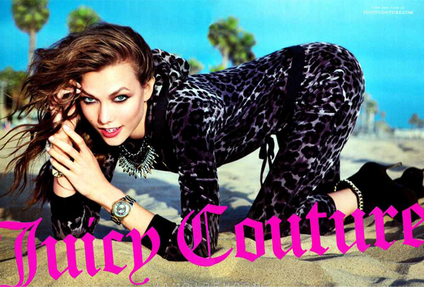 Karlie Kloss is bright and sexy for Juicy Couture's autumn/winter 2012 ad campaign