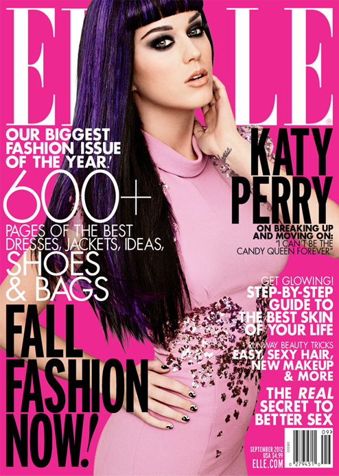 Katy Perry explodes onto the Elle US September cover