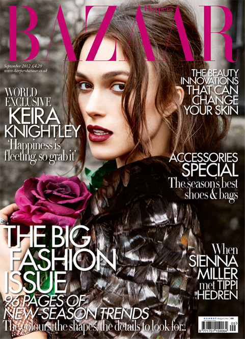 Keira Knightley goes gothic for Harper's Bazaar UK September