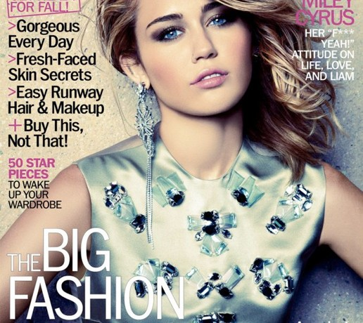Miley Cyrus wears Christian Dior for Marie Claire US September