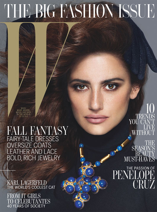 Penelope Cruz wows for W's September issue