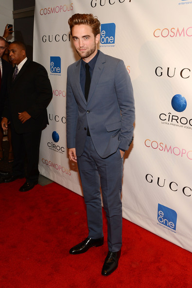 robert pattinson cosmopolis new york premiere gucci