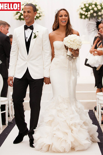 First look at Rochelle Wiseman's wedding dress