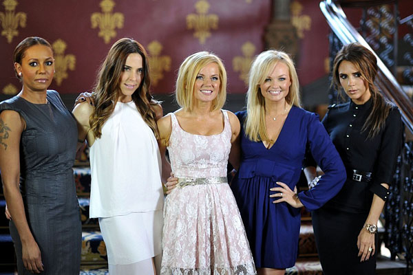 Update: Turns out Giles Deacon is NOT designing the Spice Girls' stage outfits for the Olympics Closing Ceremony