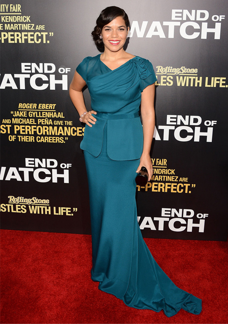 America Ferrera is beyond-beautiful in blue Rachel Roy