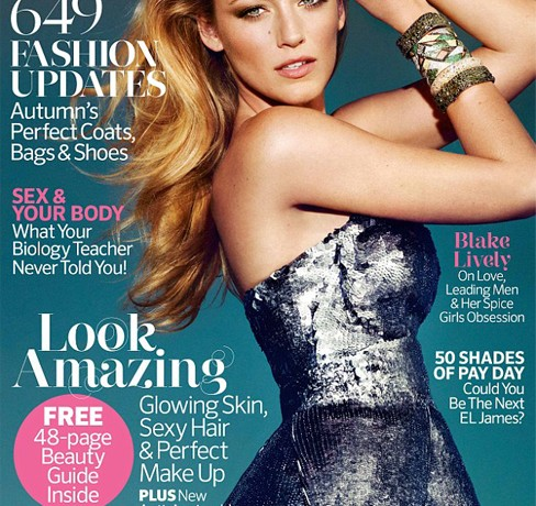 """I probably should have been medicated about my obsession with The Spice Girls!"" – Blake Lively, Marie Claire UK October"