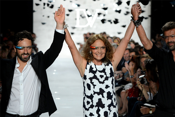 Google Glasses unveiled at Diane von Furstenberg's SS13 NYFW show