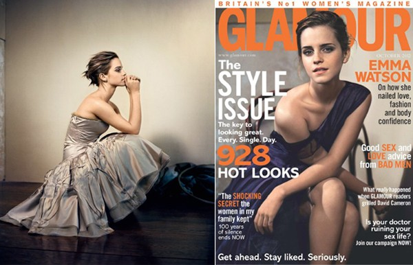 Emma Watson covers Glamour UK's October issue