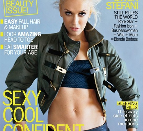 Gwen Stefani and her perfect abs cover Marie Claire US October issue