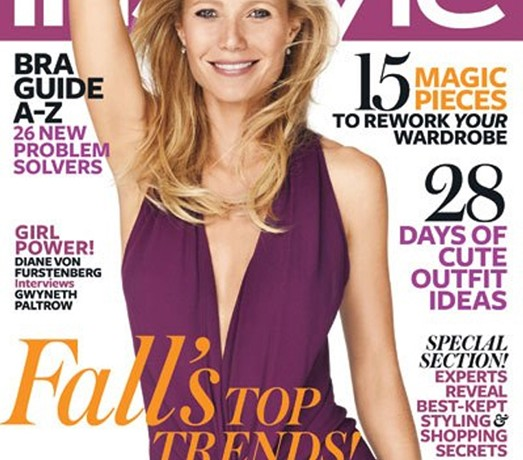 Gwyneth Paltrow wears – and is interviewed by – Diane von Furstenberg for InStyle US October