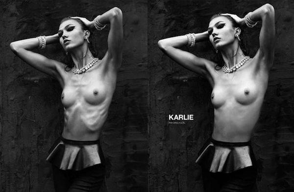 Numéro airbrushes Karlie Kloss's ribs, causes controversy