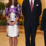Kate Middleton wears purple Prabal Gurung in Singapore