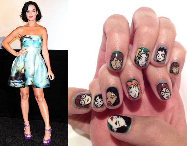 Katy Perry spices up her Randi Rahm outfit with Daria nails!
