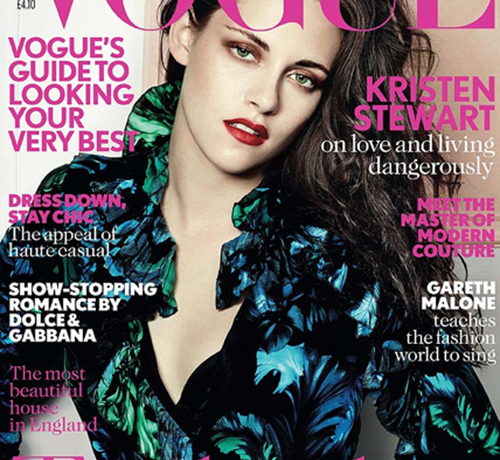 Kristen Stewart is moody in Gucci for British Vogue's October cover