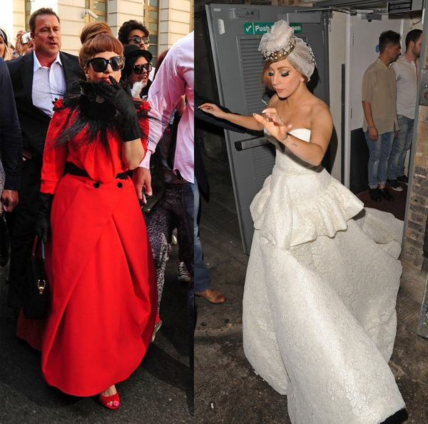Lady Gaga's Ulyana Sergeenko Couture dresses ease us into LFW!