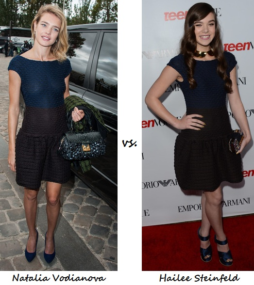 Natalia Vodianova vs. Hailee Steinfeld in Louis Vuitton