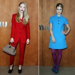 Amanda Seyfried and Dianna Agron rock Miu Miu for the PFW show