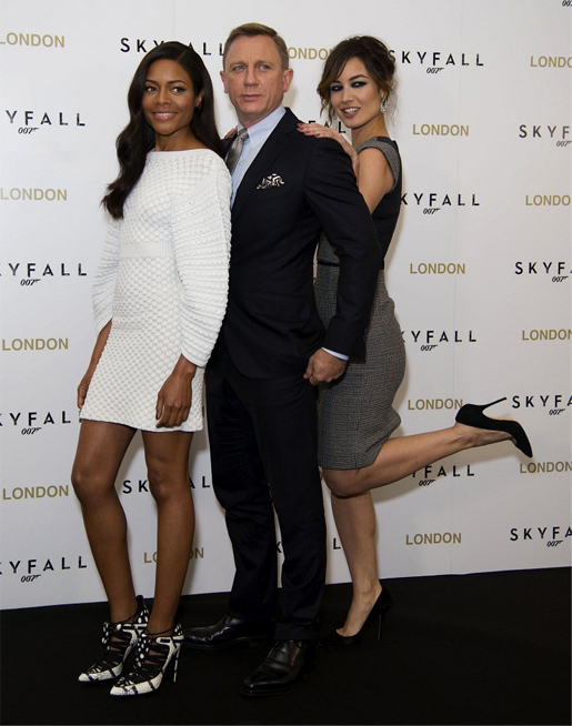 New Bond girls stun in Chanel and Dolce and Gabbana for Skyfall photocall