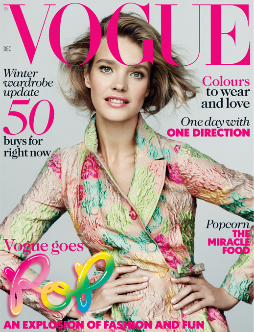 Natalia Vodianova for British Vogue's December Pop issue