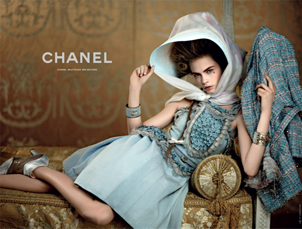 Cara Delevingne does Little Bo Peep for Chanel Resort