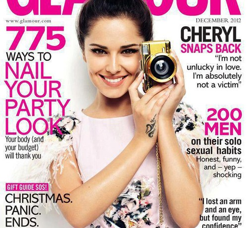 Cheryl Cole is all smiles for Glamour's December issue