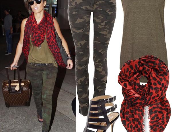 Get Frankie Sandford's camouflage look
