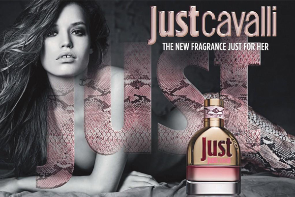 Georgia May Jagger's Just Cavalli perfume ad revealed