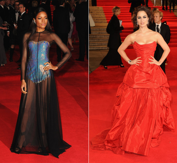 Who wore what on the James Bond Skyfall red carpet