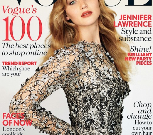 Jennifer Lawrence is British Vogue's November cover girl
