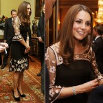 Kate Middleton wows in Alice Temperley at Buckingham Palace