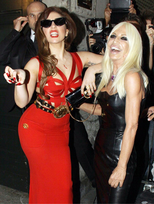 Lady Gaga rocks Versace like a pro!