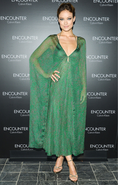 Olivia Wilde unleashes our inner green-eyed monster in Calvin Klein Collection